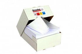 Papier samokopiujący do drukarki igłowej (składanka) Drescher,  240mmx12