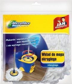 Mop rotacyjny z mikrofibry Jan Niezbędny - końcówka, 17 cm