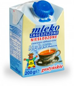 Mleko zagęszczone niesłodzone Gostyń, light, 200ml