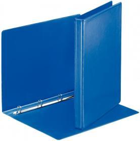 Segregator prezentacyjny Esselte Panorama A4, szerokość grzbietu 30mm,  do 140 kartek, 4 ringi, niebieski