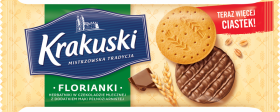 Herbatniki Krakuski Florianki, z czekoladą, 171g
