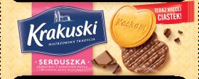 Herbatniki Krakuski Serduszka, z czekoladą, 171g