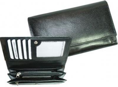 Portfel skórzany Semi-Line czarny