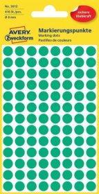 Etykiety oznaczeniowe Avery Zweckform, okrągłe, średnica 8mm, 416 sztuk zielone