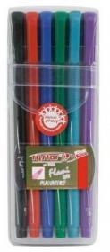 Pisaki Rystor, Flami RF, okrągła, 1mm, 6 sztuk, mix kolorów
