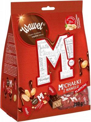Cukierki Michałki zamkowe Wawel, orzechowe w deserowej czekoladzie, 280g