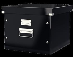 Pojemnik na 15 teczek zawieszanych Leitz Click&Store, A4, 370x356x282mm czarny