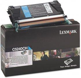 Toner Lexmark (C5240CH), 5000 stron, cyan (błękitny)