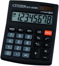 Kalkulator biurowy Citizen SDC-805, 8 cyfr, czarny