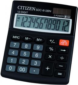 Kalkulator biurowy Citizen SDC-812, 12 cyfr, czarny