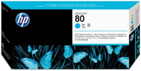 Tusz HP 80 (C4872A), 175ml, cyan (błękitny)