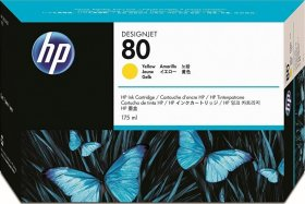 Tusz HP 80 (C4873A), 175ml, yellow (żółty)