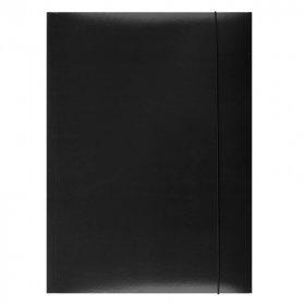 Teczka kartonowa z gumką lakierowana Barbara, A4, 3mm, czarny