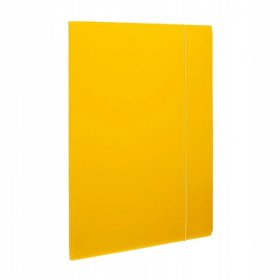 Teczka kartonowa z gumką lakierowana Barbara, A4, 3mm, żółty