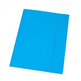 Teczka kartonowa z gumką lakierowana Barbara, A4, 3mm, niebieski