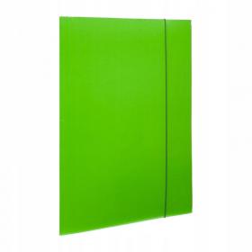 Teczka kartonowa z gumką lakierowana Barbara, A4, 3mm, zielony