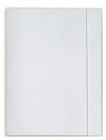 Teczka kartonowa z gumką Lux Barbara, A4, 250g/m2, biały