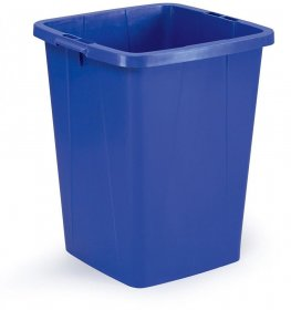 Kosz do segregacji śmieci Durable Durabin, 90l, niebieski