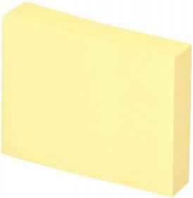 Karteczki samoprzylepne D.Rect, 38x51mm, 100 karteczek, żółty