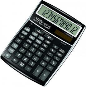 Kalkulator biurowy Citizen, CCC-112, 12 cyfr, czarny