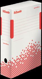 Pudło archiwizacyjne Esselte Speedbox, 100mm, do dokumentów, biały