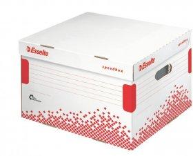 Pudło archiwizacyjne zbiorcze Esselte Speedbox, 433mm, do 5 pudeł 80mm, otwierane z góry, biały