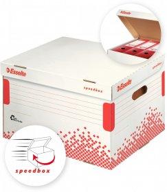 Pudło archiwizacyjne zbiorcze Esselte Speedbox, 392mm, do 5 pudeł 75mm, biały