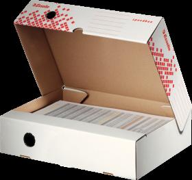 Pudło archiwizacyjne Esselte Speedbox do dokumentów, otwierane z góry, 80mm, biały