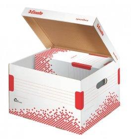 Pudło archiwizacyjne zbiorcze Esselte Speedbox, 325mm, do 3 pudeł 100mm, otwierane z góry, biały