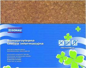 Tablica korkowa Donau, samoprzylepna, 58x46cm, brązowy