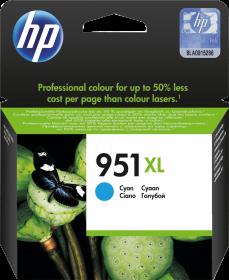 Tusz HP 951XL (CN046AE), 1500 stron, cyan (błękitny)