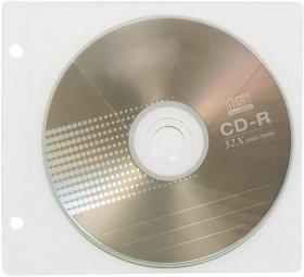 Koszulka z oknem na CD/DVD Biurfol, 10 sztuk, przezroczysty