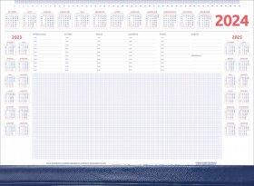 Podkład na biurko Udziałowiec, z kalendarzem 2018 i notatnikiem, A2, z listwą