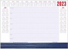 Podkład na biurko Udziałowiec, z kalendarzem 2020 i notatnikiem, A2, z listwą