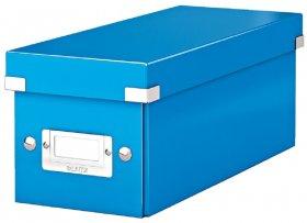 Pudełko na płyty CD/DVD Leitz Click&Store Wow, 143x136x352mm, 1 sztuka, niebieski