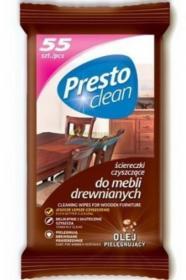 Chusteczki nawilżone do czyszczenia mebli Presto Clean, 55 sztuk