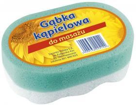 Gąbka kąpielowa Grosik, 14x8.5x4.5cm, owalna, 1 sztuka, mix kolorów