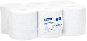 Ręcznik papierowy Merida, 2-warstwowy, 6x150m, w roli, 6 rolek, biały