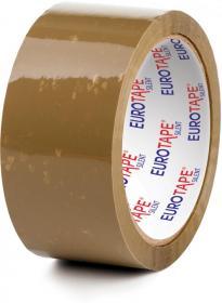 Taśma pakowa Dalpo, cicha, akrylowa, 48mmx54m, brązowy