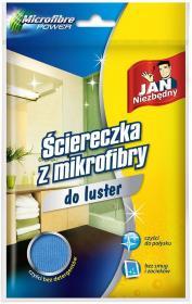 Ściereczka z mikrofibry Jan Niezbędny, do luster, 40x40cm, 1 sztuka, niebieski