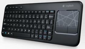 Klawiatura bezprzewodowa z panelem dotykowym Logitech Touch K400, czarny