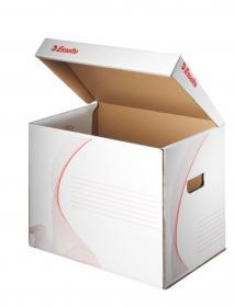 Pudło archiwizacyjne zbiorcze Esselte, 398mm, do 3 pudeł 80mm, otwierane od góry, biały
