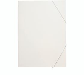 Teczka kartonowa z gumką Leniar, A3, 20mm, biały