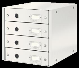 Pojemnik Leitz Click&Store, z 4 szufladami, do dokumentów, A4, biały