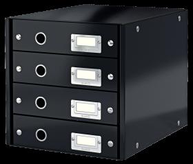 Pojemnik Leitz Click&Store, z 4 szufladami, do dokumentów, A4, czarny