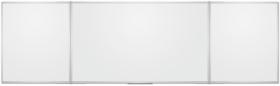 Tablica suchościeralno-magnetyczna 2x3, w ramie aluminiowej, rozkładana, lakierowana, 100x170/340cm, biały