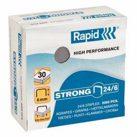 Zszywki Rapid Strong, 24/6, 5000 sztuk, srebrny