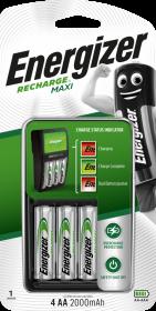 Ładowarka Energizer Maxi Power Plus, 2000mAh, 4 kanały, czarny
