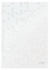 Zeszyt w kratkę Leitz Wow, A4, twarda oprawa, 80 kartek, biały