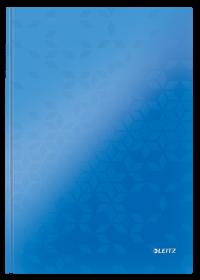 Zeszyt w kratkę Leitz Wow, A4, twarda oprawa, 80 kartek, niebieski
